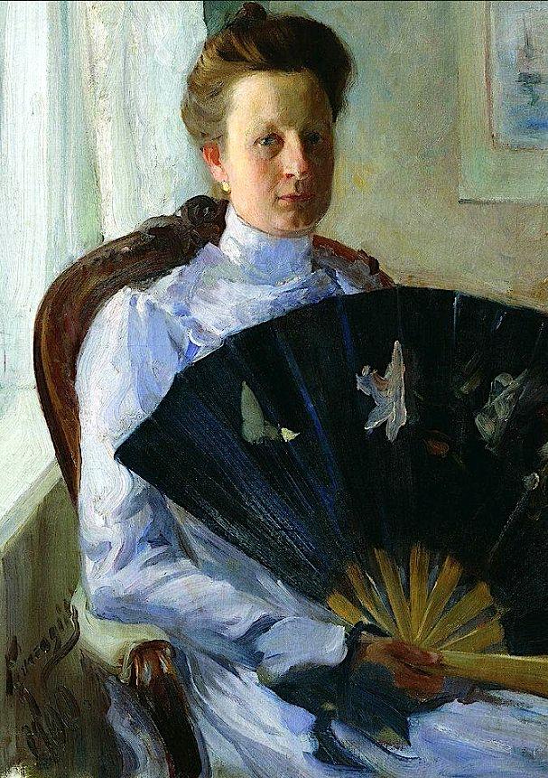Борис Михайлович Кустодиев (1878-1927) - Портрет А.Н. Протасовой / Boris Kustodiev - Portrait of A.N. Protasova, 1900