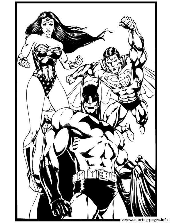 Superhero Batman Superman And Wonder Woman Coloring Pages Printable Who Doesnt Batman Prin Superman Coloring Pages Batman And Superman Batman Coloring Pages