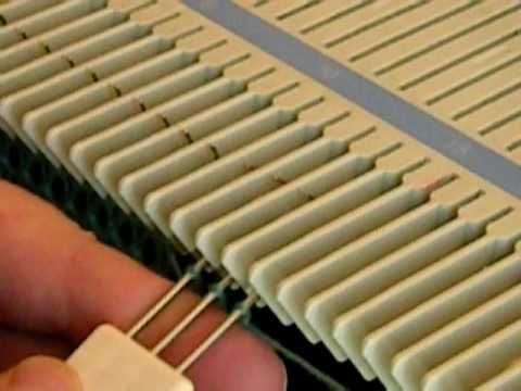 Knitting machine demo of Increase and Decrease