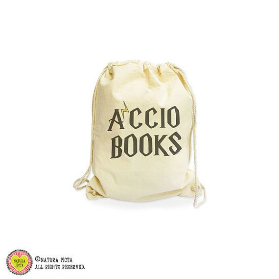 Accio books backpack-Harry Potter bag-Hogwarts by naturapicta