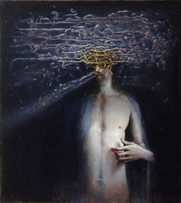 Терновый венец из мыслей. Автор работ: художник Агостино Арривабене (Agostino Arrivabene).