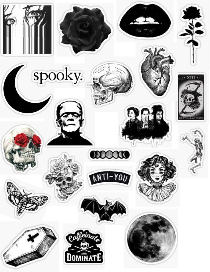 White And Black Aesthetic Stickers