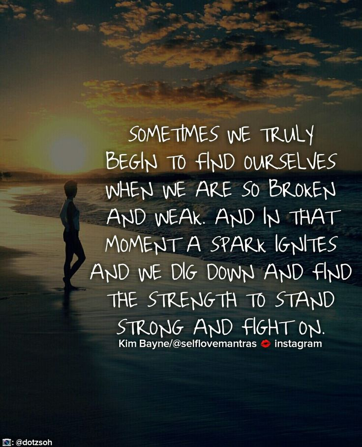 Sometimes you need to hit rock bottom to find the strength within you. You always have the strength to keep moving forward...but sometimes you need to dig deep to find it. Stand strong and fight on #selflovemantras #love #iloveme #selflove #selfworth #mantra #motto #depression #quote #quotes #quoteoftheday #lifecoach #happy #happiness  #inspire #inspiration #life #lifequotes #anxiety #wcw