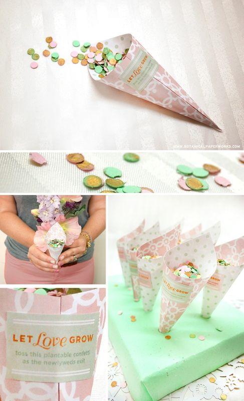 DIY: Cônes pour vos confettis