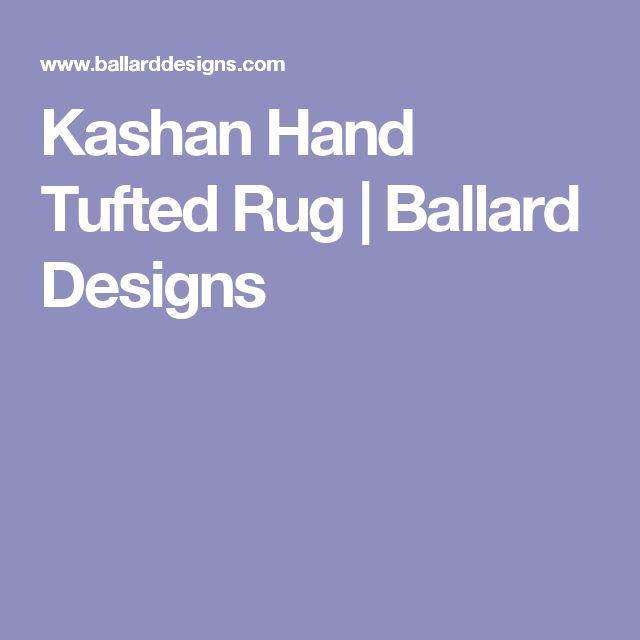Kashan Hand Tufted Rug | Ballard Designs