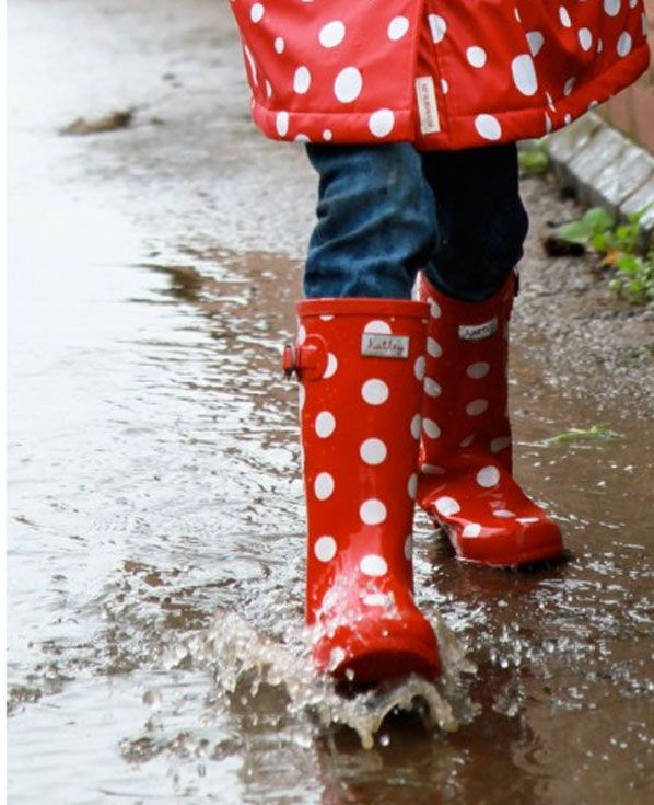Hats White Dots Wellies from Little Whispers in our Sale Now
