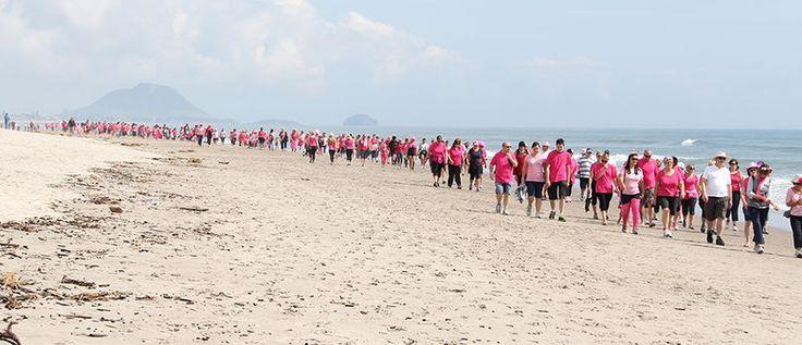 Papamoa Beach Walk to Raise Money For Breastcancer #papamoa #beach
