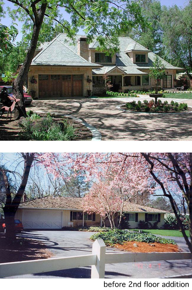 Country Style Home - 2nd Floor Addition - Before & After - Rynerson OBrien Architecture, rynersonobrien.com