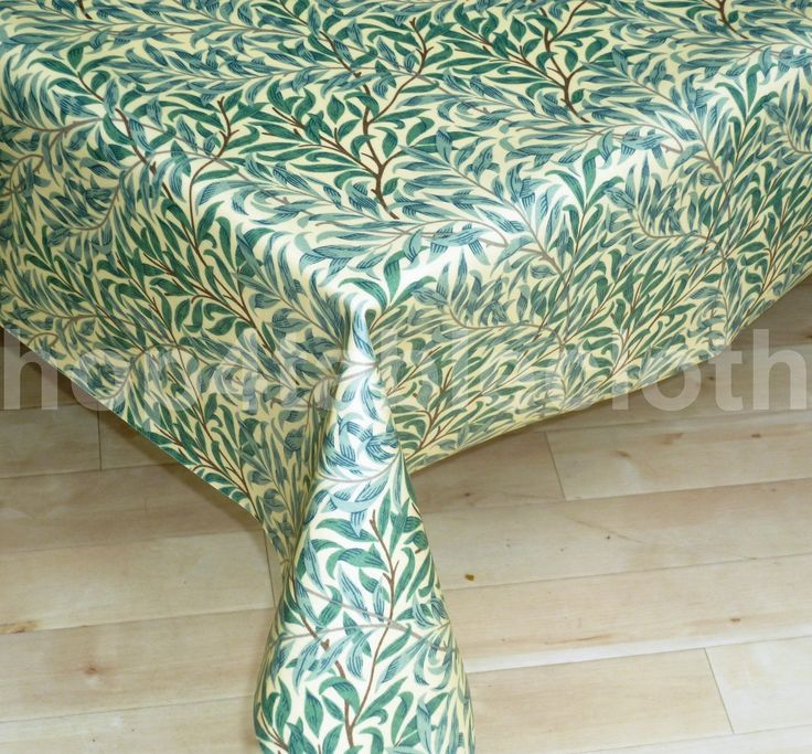 Amazon.com   Vintage William Morris Willow Bough Green Design Wipe Clean Oilcloth  Tablecloth 70