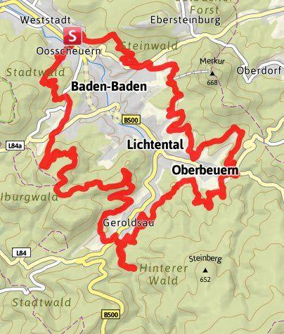 Karte / Panoramaweg Baden-Baden (Premiumweg)