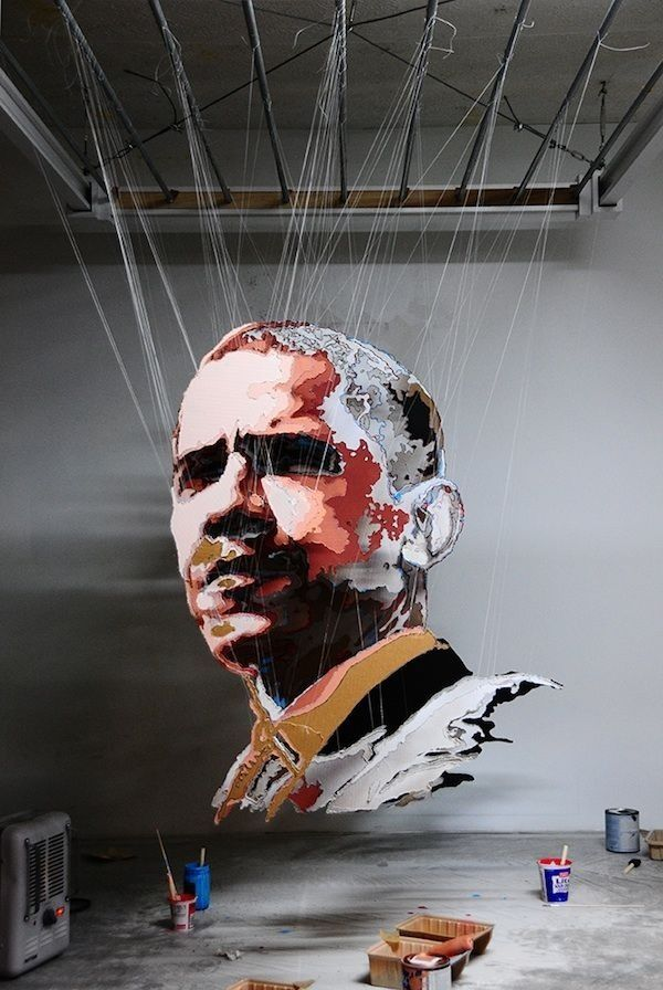 One of plenty of Michael Murphy's layered portraits of Barack Obama