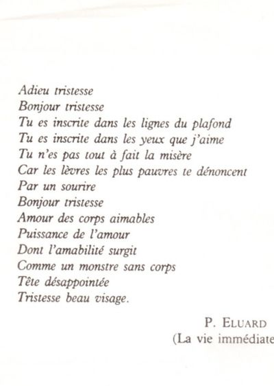 Paul Éluard . Bande à part