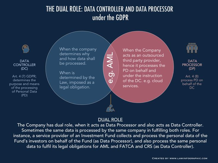 The Dual Role: Acting as Data Processor and Data Controller under the GDPR | Law Infographic