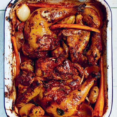 Geroosterde kip met rode wijn - recept - okoko recepten