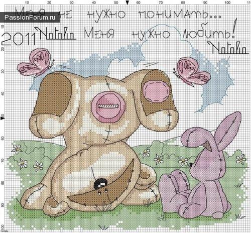 МИШКИ... / Схемы вышивки крестиком / PassionForum - мастер-классы по рукоделию