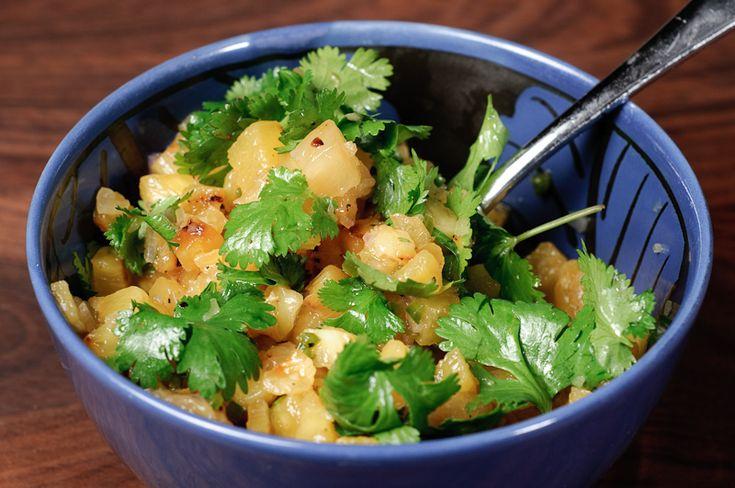 Grilled Pineapple Salsa _ Herbivoracious