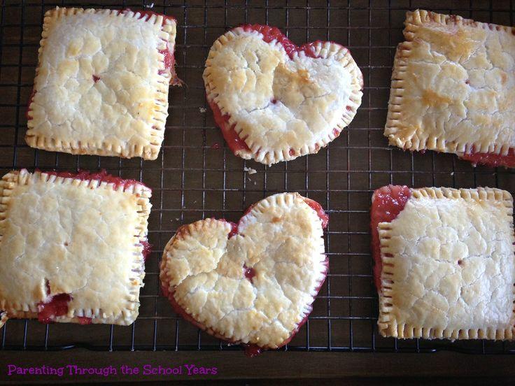 Valentine Strawberry Lemon Pop Tarts