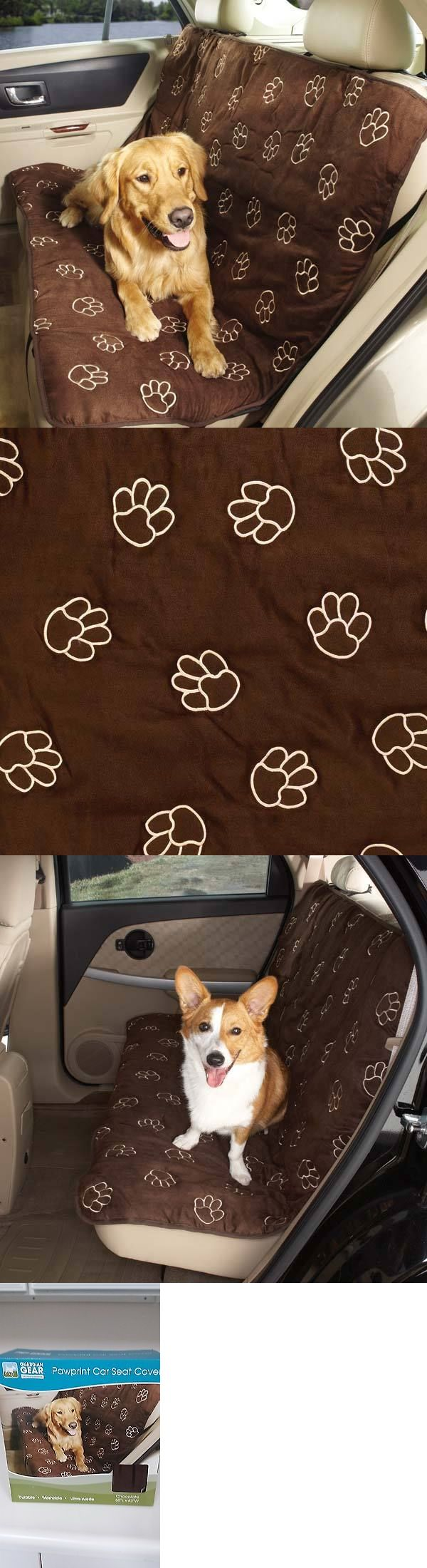Car Seat Covers 117426: Guardian Gear Pawprint Design Pet Car Seat Cover Chocolate For Dogs And Cats -> BUY IT NOW ONLY: $40.99 on eBay!