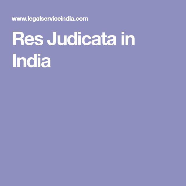 Res Judicata in India