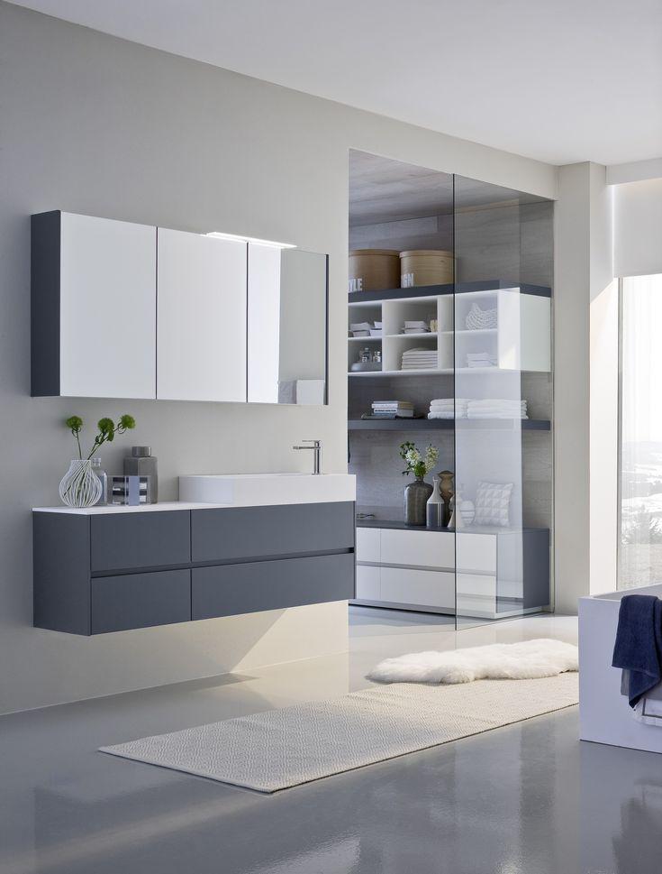 Mueble bajo lavabo lacado simple con espejo COMP N07 Colección Nyù by IdeaGroup