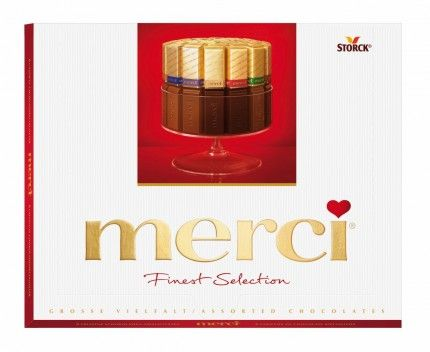 Merci 8 druhů vybraných čokoládových specialit 250g