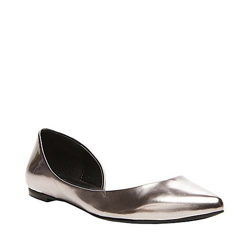 ELUSIONE PEWTER women's casual flat pointy toe - Steve Madden