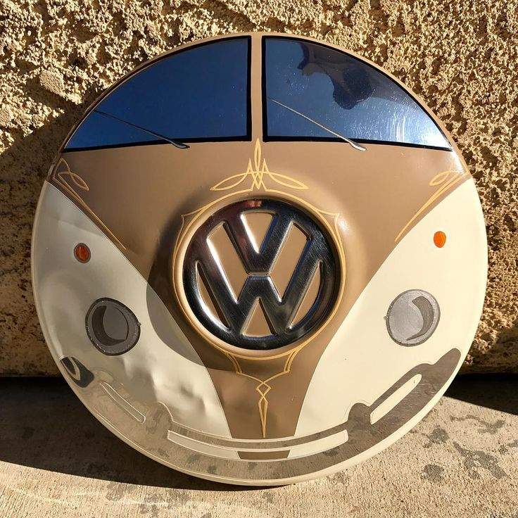 hand painted hubcap
