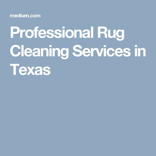 Professional Rug Cleaning Services in Texas