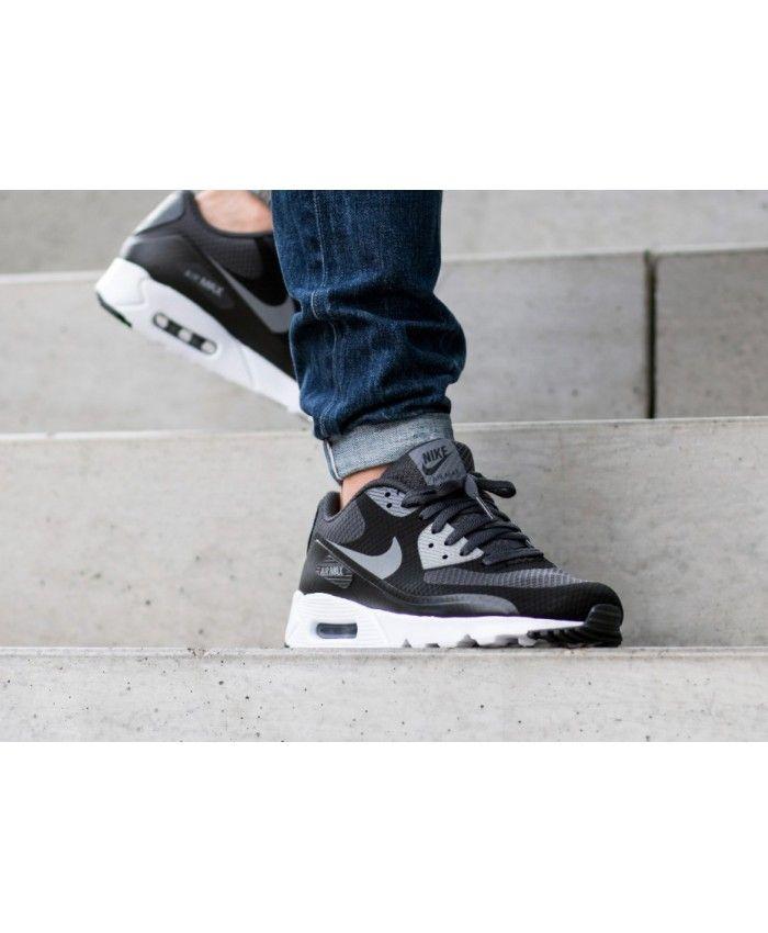 Nike Air Max 90 Ultra Essential Black Grey Pure Platinum