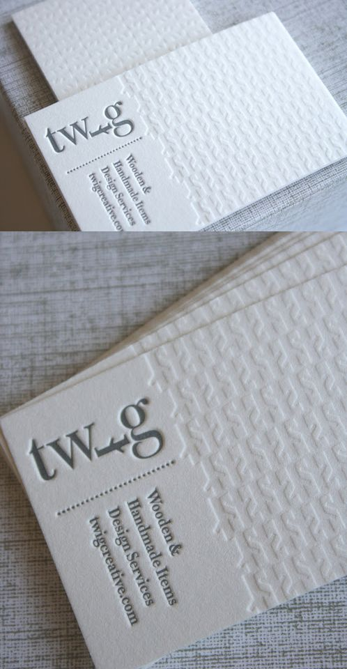 Clean White Letterpress - Clean white letterpress card by rowleypress for Twig Creative, a boutique shop specializing in children's toys. A good design + a beautiful craft sure equals a most lovely outcome.