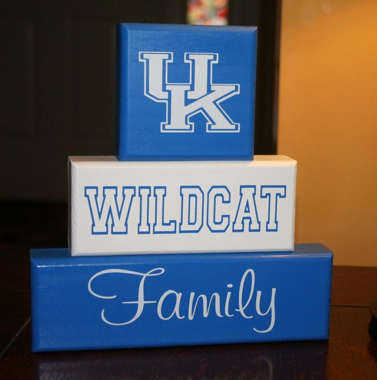 UK Kentucky Wildcat Family Blocks i need this for my mommy!!!!!