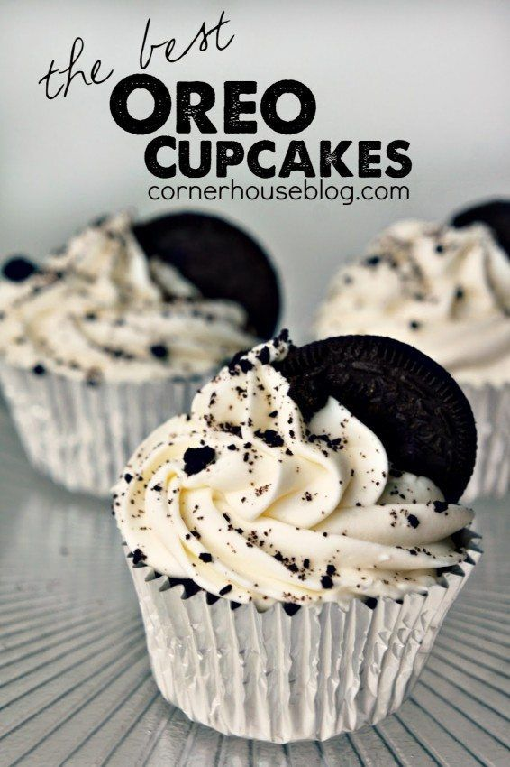 The best EVER Oreo Cupcakes.