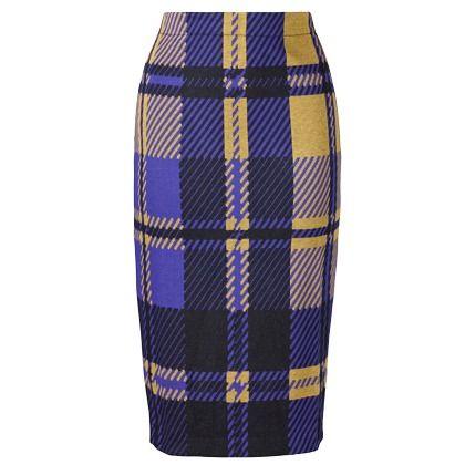 Bleistiftrock mit Karomuster - Stilvoller Rock in Lila von ANA ALCAZAR. Der feminine Pencil Skirt mit dem minimalistischen Schnitt und seiner figurbetonten Linie macht Karos feminin <3 ab 98,00€