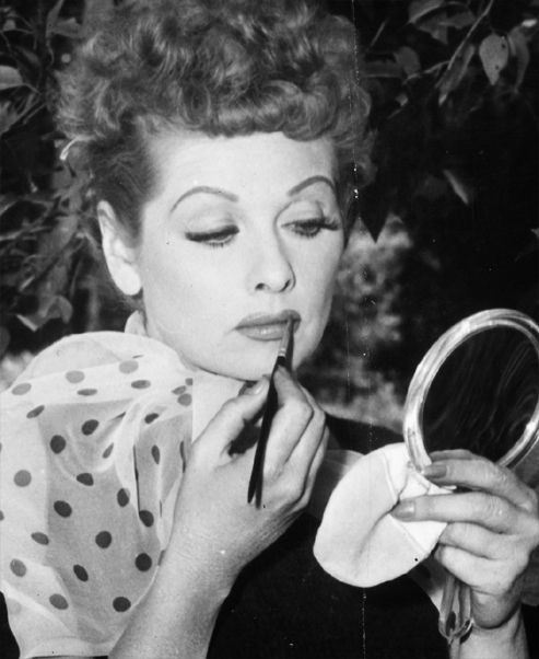 Lucy getting ready.....I love Lucy ;)