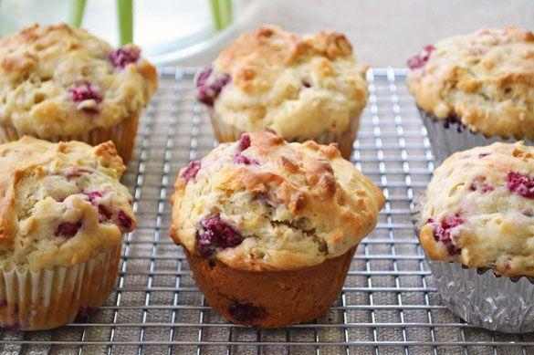 muffins fresh cherry and raspberry muffins sugar crusted raspberry ...