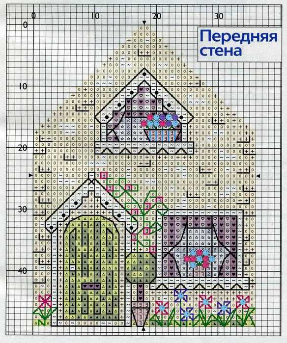 Front side -, 3D cross stitch house. Pin 2 of 5