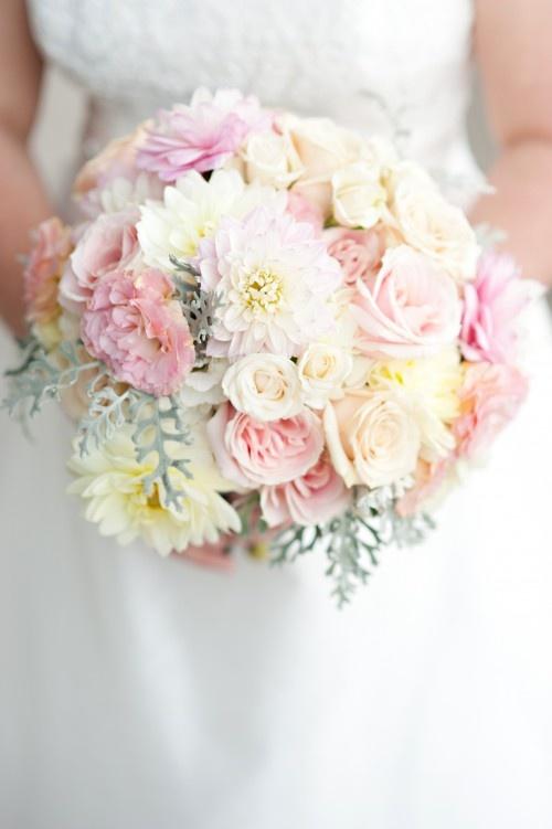 blush wedding bouquets   blush and ivory wedding bouquet   Twigs & Posies   Colorado Springs ...