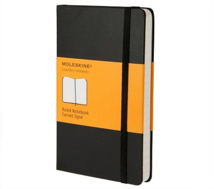 ----The Moleskine Ruled Notebook----         I've been using Moleskines since 2004 - sometimes nothing replaces paper and pen.