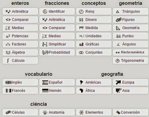 THATQUIZ: Generador de evaluaciones online de matemáticas, ciencias, geografía e idiomas.