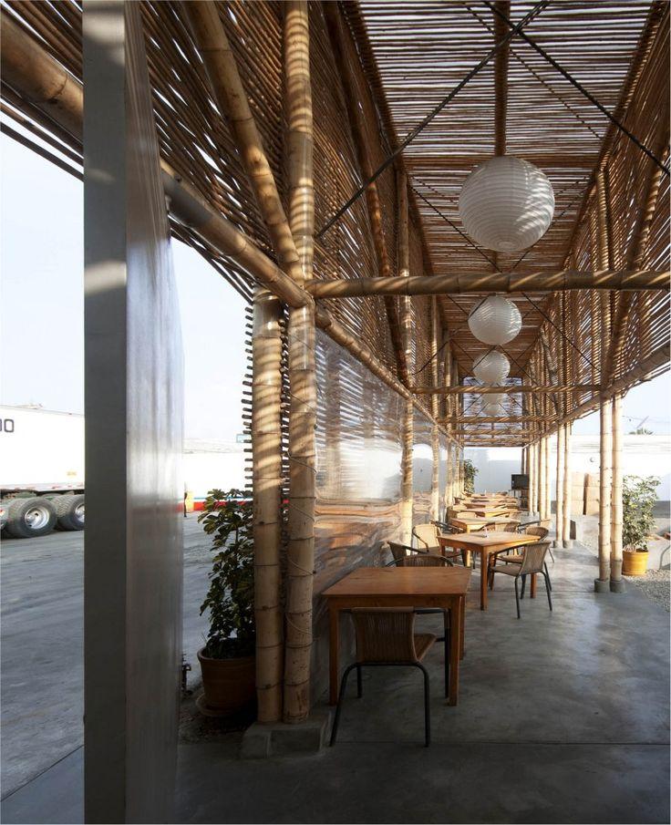 wooden restaurant interior layout