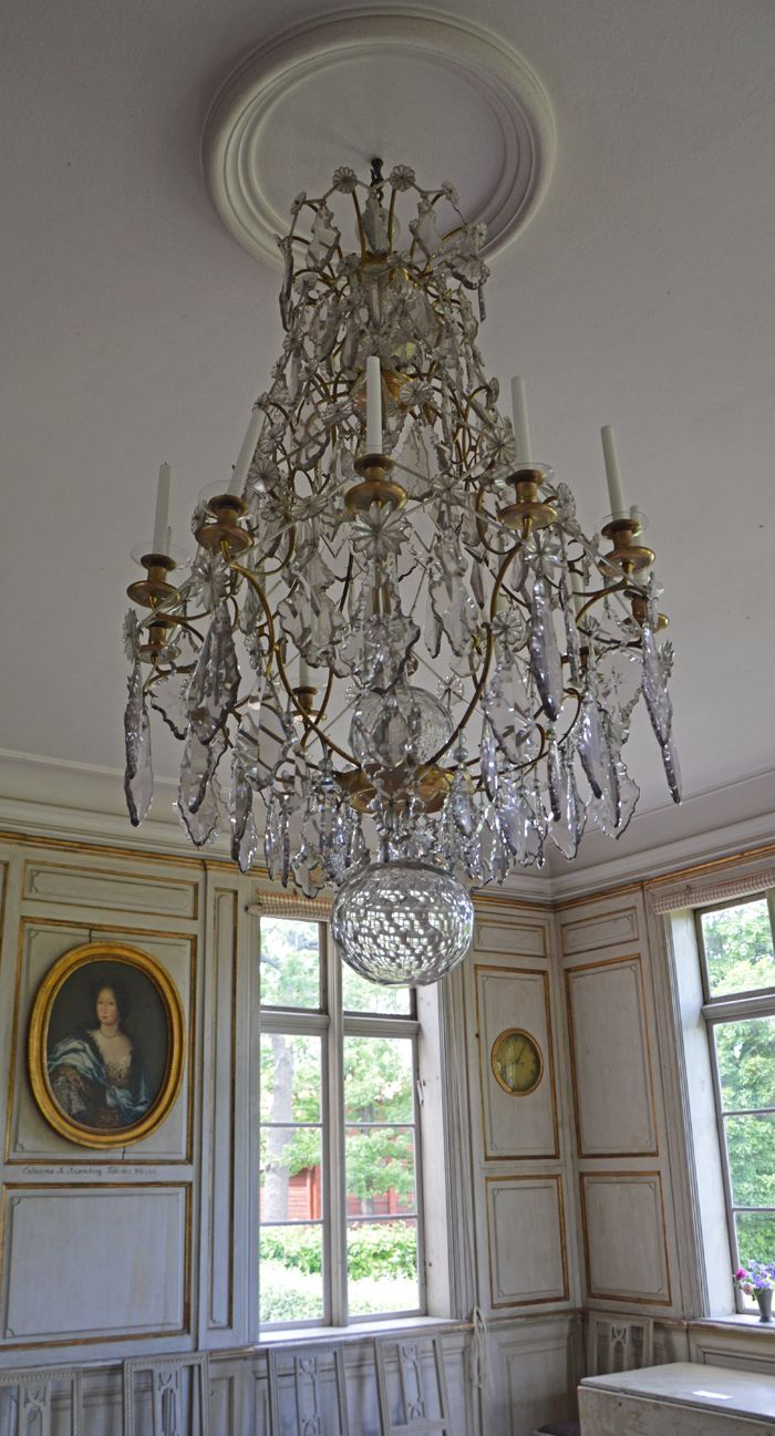 425 best chandeliers images on pinterest chandeliers crystal chrystal chandelier at skogaholms manor from the 18th century stockholm sweden arubaitofo Image collections