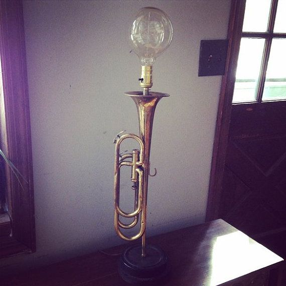 Antique Boy Scout Bugle turned Table Lamp by LOVEFurnitureDesign