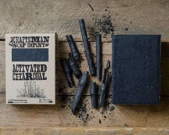 Bamboo Activated Charcoal Natural Bar Soap // Handmade, Vegan, and Palm-Free // Gently Exfoliates for Sensitive Skin