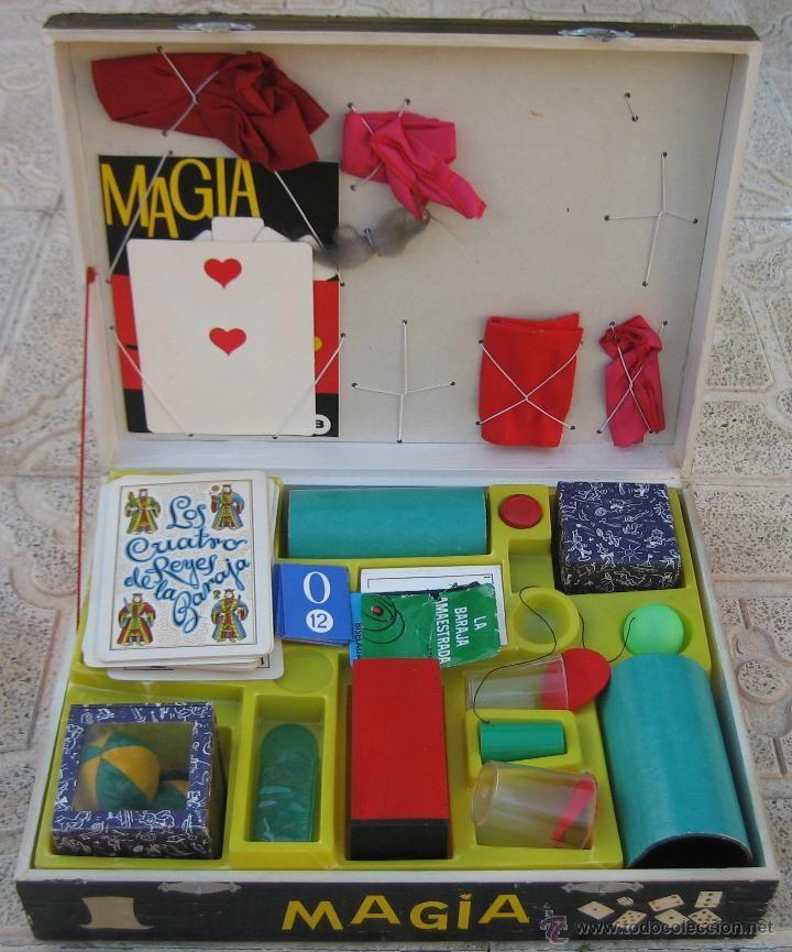 Magia borr s n 3 caja de madera juguetes antiguos en - Juguetes antiguos de madera ...