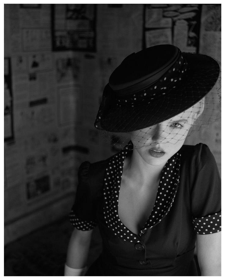 Fashion. Retro Girl. Model - Emilia Pietras Hair - Grzegorz Kozioł & Kaja Rynasiewicz Stylist - Marlleen Made from a negative, original print, Baryte paper, black-and-white photography. Fine art photographs. www.fryderykdanielczyk.com www.artandlaw.pl