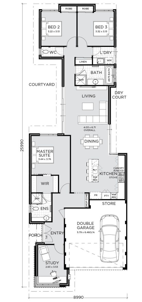 19 Best Narrow Block Plans Images On Pinterest Small