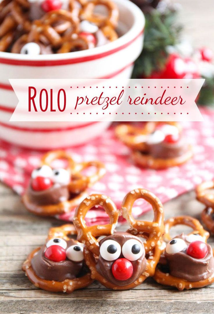 Rolo Pretzel Reindeer | I Heart Naptime and other great Christmas desserts