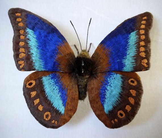 Fabric sculpture Xenagoras Butterfly fiber art by YumiOkita