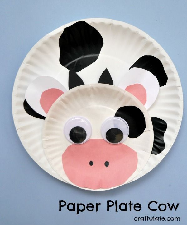 Paper Plate Cow Animal Crafts For Kids Paper Plate Crafts