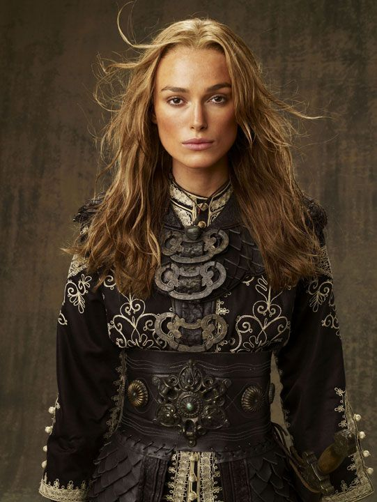 Elizabeth Swann (Keira Knightley) 'Pirates of the Caribbean: At World's End' 2007. Costume designed by Penny Rose.